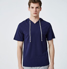 Fashion Designer Short Sleeve Men T Shirt Casual Pullover Tee Tops Blue S