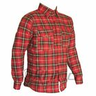 Flannel Shirt Reinforced with DuPont™ Kevlar® ARAMID S-6XL Black and Red