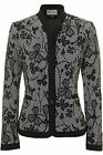 Busy Womens Black And White Flowers Jacket