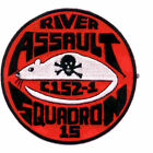 US Navy RIVRON 15 Naval River Assault Squadron 15 Vietnan Patch