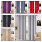 Blackout Curtains Thermal Luxury Readymade Eyelet Ring Pair With Tie Backs