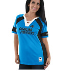 Women's New Blue NFL Carolina Panthers S/S Replica Fashion Jersey Top Size S M $19.99 USD on eBay