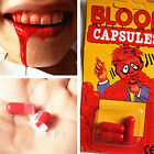 2Set Funny Blood Pill Trick Toys Whimsy Prop Vomiting Blood Capsule Joke Toy RS