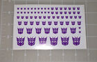 G1 Decepticon Symbol Insignia Logo Sticker Decal Sheet