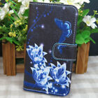 1x Dream Catcher Butterfly Orchid Flower Wallet Flip case cover for HTC Phone
