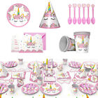 Внешний вид - UNICORN Kids Child Birthday Party Tableware Set Paper Box Cup Babyshower Decor S