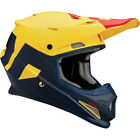 Thor Adult & Youth Navy Blue/Yellow/Red Sector Level Dirt Bike Helmet MX ATV 18