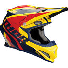 Thor Adult & Youth Navy Blue/Yellow/Red Sector Ricochet Dirt Bike Helmet MX ATV