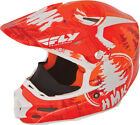 HMK Orange/White Adult F2 Carbon Pro Snowcross Snowmobile Helmet by Fly Racing