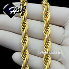 "18""20""24""30""MEN's Stainless Steel 10mm Gold Smooth Rope Chai"