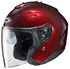 HJC Adult IS-33 II Solid Wine Red 3/4 Open Face Motorcycle Helmet DOT