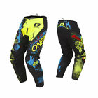 O'Neal Mens & Youth Neon Yellow Element Villain Dirt Bike Pants MX ATV 2019