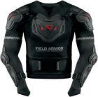 Icon Mens Black/Red Field Armor Stryker Rig Motorcycle Armored Jacket