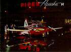 Early 1960's Piper Apache Model H Original Airplane Brochure Super Duper Rare!