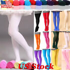 Girls Kids Hosiery Ballet Dance Tights Soft Velvet Pantyhose Socks Candy Colors