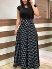Plus Size Womens Sexy Short Sleeve Floral Boho Party Bodycon Maxi Dress Clothing