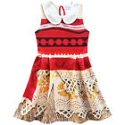 Peter Pan Collar Sleeveless Dress For Girls Kids Moana Cosplay Costume Princess