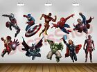 Set 10pcs Character SuperHero Avengers Vinyl Wall Decal Stic