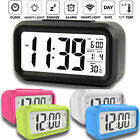 Desk Digital Alarm Clock Sensor Automatic Soft Light Snooze Date Temperature NEW