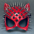 Masquerade Cat Mask Sexy Steampunk Spike Studs Costume Halloween Party Dress up