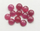 4.80 Ct Natural Burma Untreated Ruby Round Cabochon pies12 Loose Gemstone  R-8