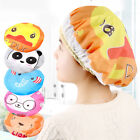 3-6 Pcs Women Shower Cap Waterproof Elastic Bath Hat Cleaning Hat Cute Kid Adult