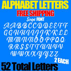 """Alphabet Letters Decals Script 1"""" 1.5"""" 2"""" 2.5"""" 3"""" Free Ship Stickers Pack"""
