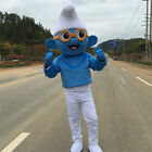 Mascot Costume Smurf  Professional Adults Cartoon Cosplay Halloween Dress Outfit