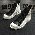 Mens High Top Sports Snakers Shoes Lace Up motor Ankle Boots Combat shoes new