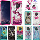 Rhinestone Diamond Sparkly Shock Absorbing TPU PC Defender Rugged For Cell Phone