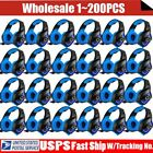 LOT 3.5mm Gaming Headset Mic LED Headphones Stereo Surround for PS3 PS4 PC BP