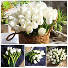 10pcs Artificial Fake Flower Bouquet Tulips Home Bridal Wedding Silk Decoration