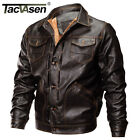 TACVASEN Mens Thick Fleece Lining Leather Jacket Winter Motorcycle Coats Jackets