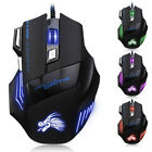 5500DPI LED Optical USB Wired Gaming Mouse 7Buttons Gamer Laptop Computer MicePl