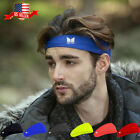 Mens Women Sweat Sweatband Headband Yoga Gym Running Stretch Sports Head Band