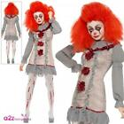 Vintage Clown Costume Mens Ladies Halloween Horror Pennywise Fancy Dress Outfit
