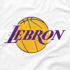 Los Angeles Lakers Shirt LeBron James Logo White XS S M L XL 2XL 3XL 4XL 5XL LA