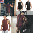 Men Muscle Sleeveless Tank Top Gym T Shirt Sport Fitness Vest Workout GYM Tee US image