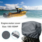 Universal+Boat+Outboard+Motor+Engine+Cover+Trailerable+Fits+100%2D150HP+Gray