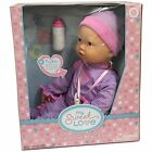 Interactive Baby Doll  Makes Breathing Sounds, Sucks On Her Bottle Or Pacifie...