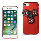 Reiko iPhone 7/ 6/ 6S Case With LED Fidget Spinner Clip On In Red | MaxStrata