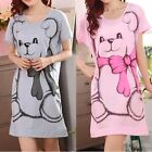 1 PCS Summer Women's Nightgowns Short-sleeve Dress Cute Cartoon Bear Printed Sle