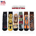 US! Men Novelty Cartoon Star Wars Socks Cotton Skateboard Sports Long Socks