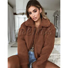 UK Womens Teddy Bear Oversized Coat Ladies Borg Zip Faux Fur Jacket Size 6-18 <br/> =UK Same Day Dispatch=UK Next Day Delivery Available=
