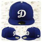 Los Angeles DODGERS Custom Team Color (D) Logo Fitted Cap on Ebay