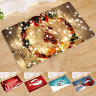 Внешний вид - Xmas Flannel Rugs Anti-Skid Area Rug Dining Room Home Bedroom Carpet Floor Mat