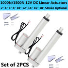 A Pair of 12V Electric Linear Actuators +Brackets 1000N/1500N Heavy Duty Medical