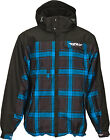 Fly Racing Men's Phantom Blue/Black Hooded Waterproof Insulated Pit Jacket