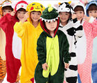 Boy Girl Kid Pajamas Kigurumi Unisex Halloween Cosplay Animal Costume Sleepwear