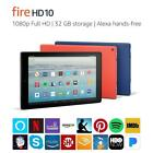 NEW Amazon Kindle Fire HD 10 hands free Alexa 32GB 7th Gen Black Blue Red Yellow